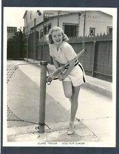 SEXY BLONDE CLAIRE TREVOR PLAYS TENNIS - NEAR MINT COND KEY BOOK PHOTO
