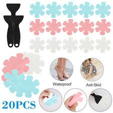 20 Pcs Flower Safety Treads Anti Non-Slip Applique Stickers Mat Bath Tub Shower