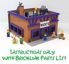 Moe's Tavern CUSTOM INSTRUCTIONS ONLY for LEGO Bricks The Simpsons