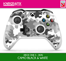 KNR6631 PREMIUM XBOX ONE S CONTROLLER SKIN CAMO GREY BLACK & WHITE