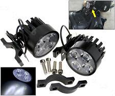 2X 12V-60V Universal Motorcycle Motorbike LED Front Spot Light Headlight Lamp HD