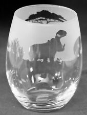 More details for hippo frieze boxed 36cl crystal stemless wine / water glass