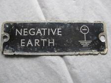 LAND ROVER SERIES 2 2A 3 AN ORIGINAL SMALL BLACK NEGATIVE EARTH BADGE LANDROVER.