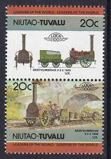 TUVALU NIUTAO LOCO 100 LOCOMOTIVE NORTHUMBRIAN UNITED KINGDOM STAMPS MNH