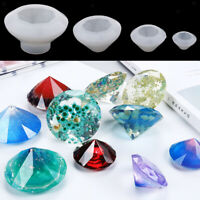4 Sizes Diamond Pendant Silicone Mold for Epoxy Resin Casting 3/5/6.5/10cm