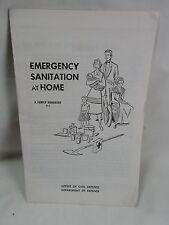 Department Of Defense Office Of Civil Defense Emergency Sanitation At Home 1963