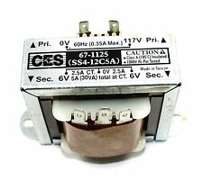 Power Transformer, 117VAC -> 12VAC Center Tap (6_0_6), 5A   ( 28N070 )