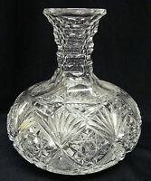 "Reduced Price: HAWKES Cut-Crystal Carafe / Water Bottle / Vase 7"" GLADYS c.1901"