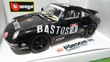 PORSCHE 911 CARRERA 993 # 4 Noir BASTOS au 1/18 BURAGO voiture miniature