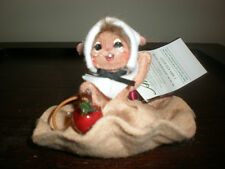 "ANNALEE 2009 3"" APPLE PIE MOUSE NEW WITH TAG"