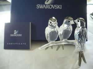 Swarovski Crystal Swallows 892039 with Box and Certificate