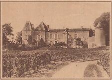 G1780 France - Chateau Yquem - Grand cru classé de Sauternes - 1933 old print