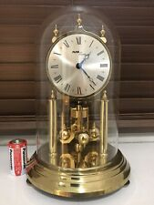 vintage/brass old anniversary glass dome torsion clock,mantel/carriage