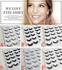 5 Pairs Handmade Demi False Fake Eyelash Extensions With Adhesive in 6 styles