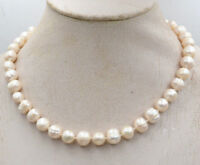 Natural 10-11/11-12mm South Sea Cream White Thread Pearl Necklace 18-54''
