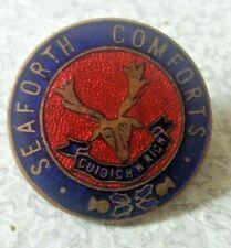 More details for vintage ww1 scottish seaforth highlanders - seaforth comforts- badge - volunteer