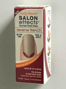 Sally Hansen Salon Effects Real Nail Polish Strips, Reverse French (You Choose)
