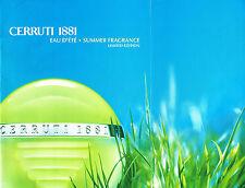 PUBLICITE ADVERTISING 124  2003  CERRUTI 1881   eau d'été parfum