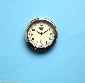 Premium 55mm Silver Bezel cream dial QUARTZ WATCH insert movement for 52mm hole