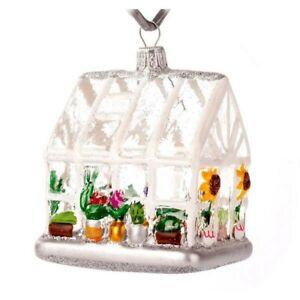 Novelty Glass Handmade Greenhouse Christmas Decoration Tree Ornament Baubles