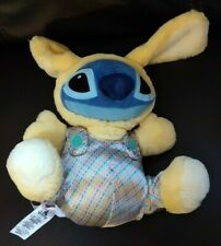 Disney Store Stitch Plush Bunny Stuffed Animal Blue Alien Easter Plush Yellow