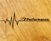 N PERFORMANCE Herzschlag Aufkleber Sticker Pulse Heartbeat i30n Tuning Decal OEM