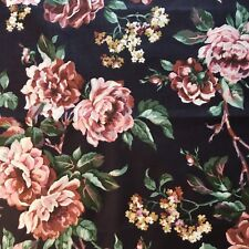 Large Print Floral Fabric Roses and Lilac on Plum Purple by Marcus Brothers