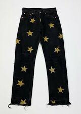 Levis 501 stars jeans donna usato destroyed custom W29 tg 43 boyfriend T5568