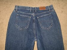 Lee Size 12 M Tapered Leg Dark Blue Denim Womens Jeans
