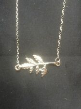 *SALE- Vintage Style Silver Leafy Branch Necklace*