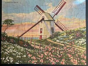 """Vintage 1930's See America First Picture Puzzle """"A Windmill on Old Cape Cod"""""""