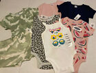 Lot of 7 NWT Old Navy Baby Clothes 6-12M camo pink 1pc short Girls Snap