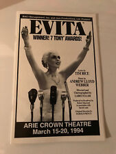 Evita Playbill Arie Crown Theatre March 15-20, 1994 with Booklet