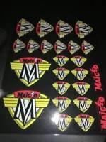 MAICO vintage decals sticker sheet, AHRMA motocross LAMINATED