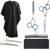 """Friseur-Haarscheren Set 6"""" Friseurschere + Schneiden Coiffeure Umhang + 2 Clips"""