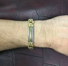 Charriol Genève Bracelet Stainless Steel 18k Yellow Gold Men S Designer Fashion