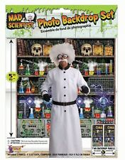 Halloween Photo Backdrop Scientist Lab Wall Cover Scene Setter 5ft Decoration