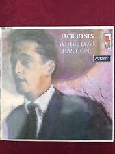 JACK JONES: WHERE LOVE HAS GONE  1964 London LP HA-R8209  Rare    EX