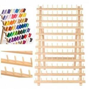 Holz Garnrollenhalter ollenhalte mit Wandaufhänger für 120 Garnrollen Faltbare