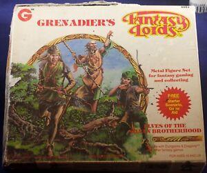 12 Grenadier Metal Miniatures D&D 6003 Elves 1983 w/ box no insert UGLY BOX