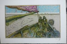 BILLY CHILDISH signed and numbered People in Boat print rare