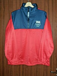 USA OLYMPIC TEAM GAMES 2012 LONDON TRACK SUIT JACKET Sweatshirt size L Tricot