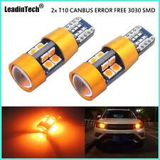 2x T10 SAMSUNG 3030 Amber CANBUS ERROR FREE Car LED Lights 168 194 2825 W5W Bulb