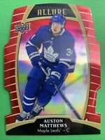 2019-20 Upper Deck Allure Red Rainbow #5 Auston Matthews Toronto Maple Leafs