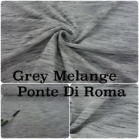 Grey Melange Stripe Ponte Di Roma Warm Winter Stretch Knit Jersey Dress Fabric