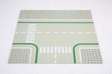 Lego® 2360 Straßenplatte Platte 32 x 32 Kreuzung grau mit Fahrradweg road plate