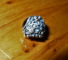 Genuine Pandora Onyx Diamond Two Tone Mother Nature Charm No 790540O Very Rare