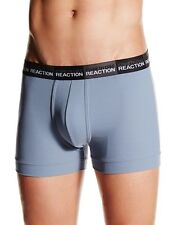 KENNETH COLE REACTION RIBBED LOGO WAISTBAND BOXER BRIEF UNDERWEAR GRAY SMALL $57