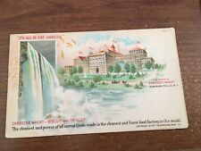 Niagara Falls ~ SHREDDED WHEAT ~ Advertising Postcard