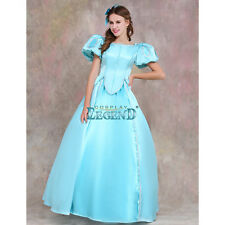 The Little Mermaid Princess  Ariel Dress Cosplay Costume Adult Blue Halloween
